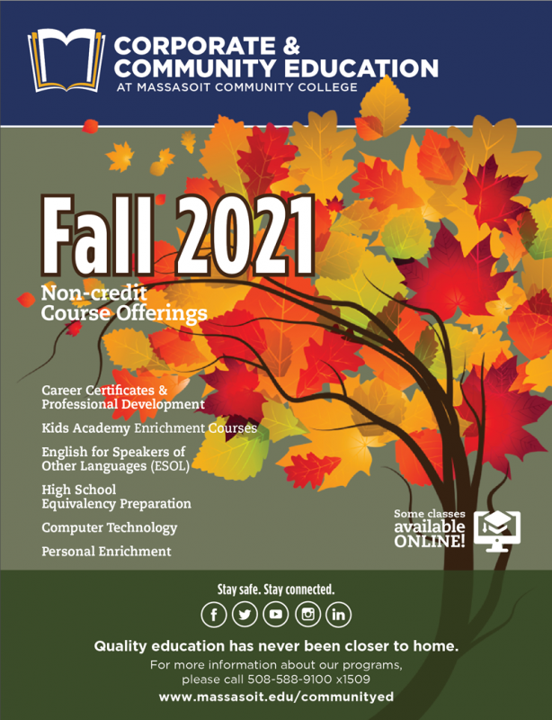 Fall 2021 Community Education Course Schedule