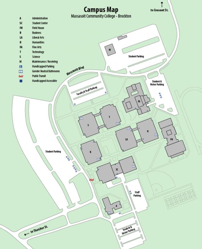 Brockton Campus Map