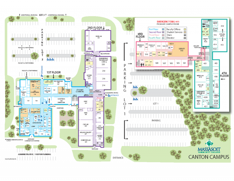 canton campus map